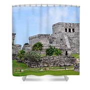 Tulum Mayan Ruins Shower Curtain