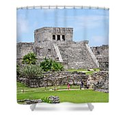 Tulum Ruins   Shower Curtain