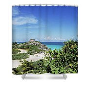 Tulum Ruins Shower Curtain