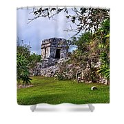 Tulum Watchtower Shower Curtain