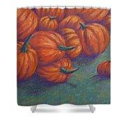Tumbled Pumpkins Shower Curtain