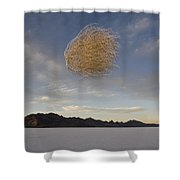 Tumbleweed In Mid Air Shower Curtain
