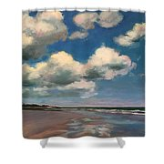 Tumbling Clouds Shower Curtain