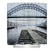 Tyne Bridge, Newcastle Shower Curtain