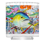 Tuned In Shower Curtain