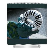 Tuneful Trunk Shower Curtain