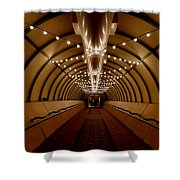 Tunnel Abstract Shower Curtain