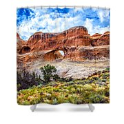Tunnel Arch Trail View Shower Curtain