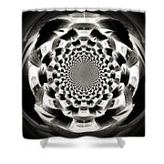 Tunnel Illusion Shower Curtain