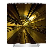 Tunnel In Schoenenbourg Fort, France Shower Curtain