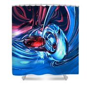 Tunnel Lust Abstract Shower Curtain