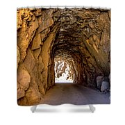 Tunnel Route 4nm Shower Curtain