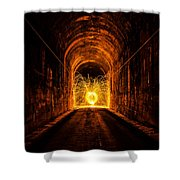 Tunnel Sparks Shower Curtain