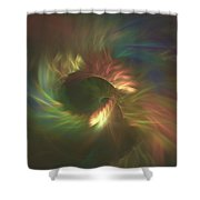 Tunnel Stretching Into The Distance Shower Curtain