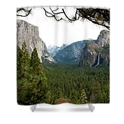Tunnel View Framed Shower Curtain