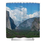 Tunnel View In Yosemite  Shower Curtain