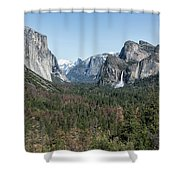 Tunnel View Of Yosemite During Spring Shower Curtain