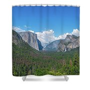 Tunnel View Panorama  Shower Curtain