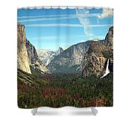 Tunnel View Yosemite Shower Curtain