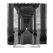 Tunnel Vision Bw  Shower Curtain