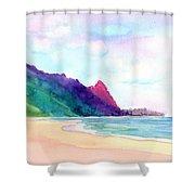 Tunnels Beach 4 Shower Curtain