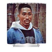 Tupac Shakur Drawing Shower Curtain