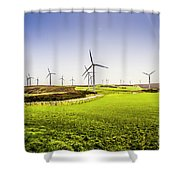 Turbine Fields Shower Curtain