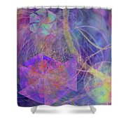 Turbo Blue Shower Curtain