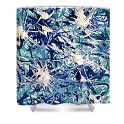 Turbo Turquoise  Shower Curtain