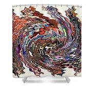 Turbulence II Shower Curtain