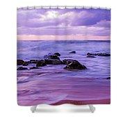 Turbulent Daybreak Seascape Shower Curtain