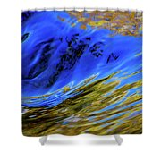 Turbulent Fall Reflections Shower Curtain