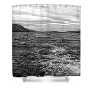 Turbulent Loch Ness In Monochrome Shower Curtain