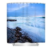 Turbulent Pacific Shower Curtain