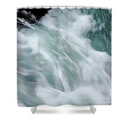 Turbulent Seas Shower Curtain