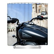 Turgalium Motorcycle Club 01 Shower Curtain