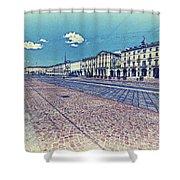 Turin, Square Vittorio. Shower Curtain