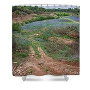 Turkey Bend Park Texas Rough Road Shower Curtain