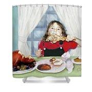 Turkey Girl Shower Curtain