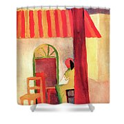 Turkish Cafe By August Macke Shower Curtain