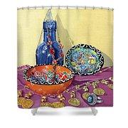 Turkish Still Life Shower Curtain