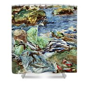 Turkish Woman By A Stream Shower Curtain