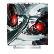 Turmoil Abstract Shower Curtain