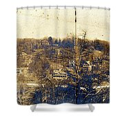 Turn Of The Century Dyckman Street Panorama Shower Curtain