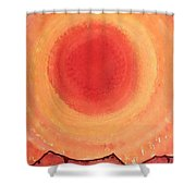 Turn West At The Sun Original Painting Shower Curtain
