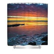 Turnagain Arm Sunset Shower Curtain