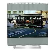 Turnaround At Powell And Mason Streets, April 6 1961 Shower Curtain
