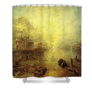 Turner Joseph Mallord William Ancient Italy Ovid Banished From Rome Joseph Mallord William Turner Shower Curtain