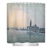 Turner Joseph Mallord William San Giorgio Maggiore In The Morning Joseph Mallord William Turner Shower Curtain