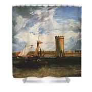 Turner Joseph Mallord William Tabley The Seat Of Sir Jf Leicester Joseph Mallord William Turner Shower Curtain